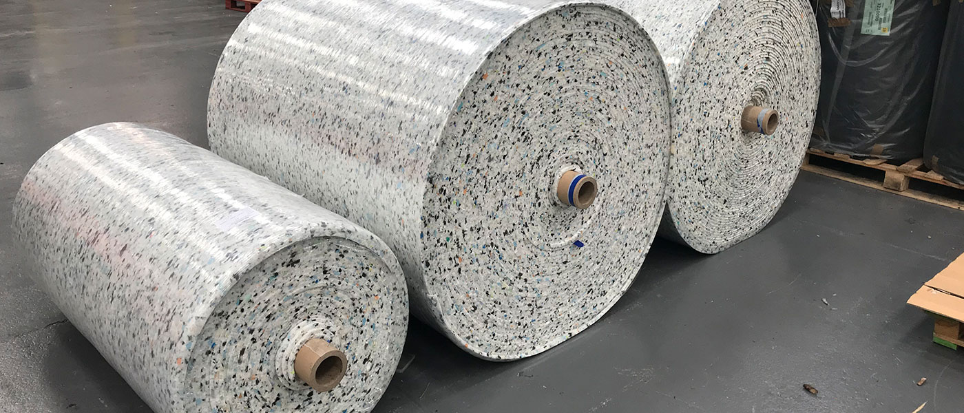 Rolls of product in factory