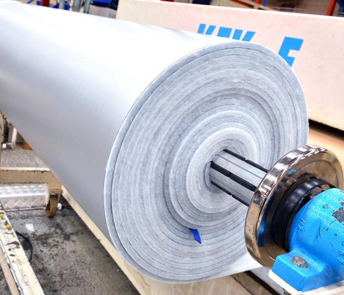 Roll of product that has been laminated