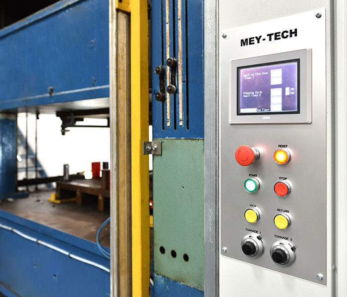 Mey-Tech thermal moulding and embossing machine
